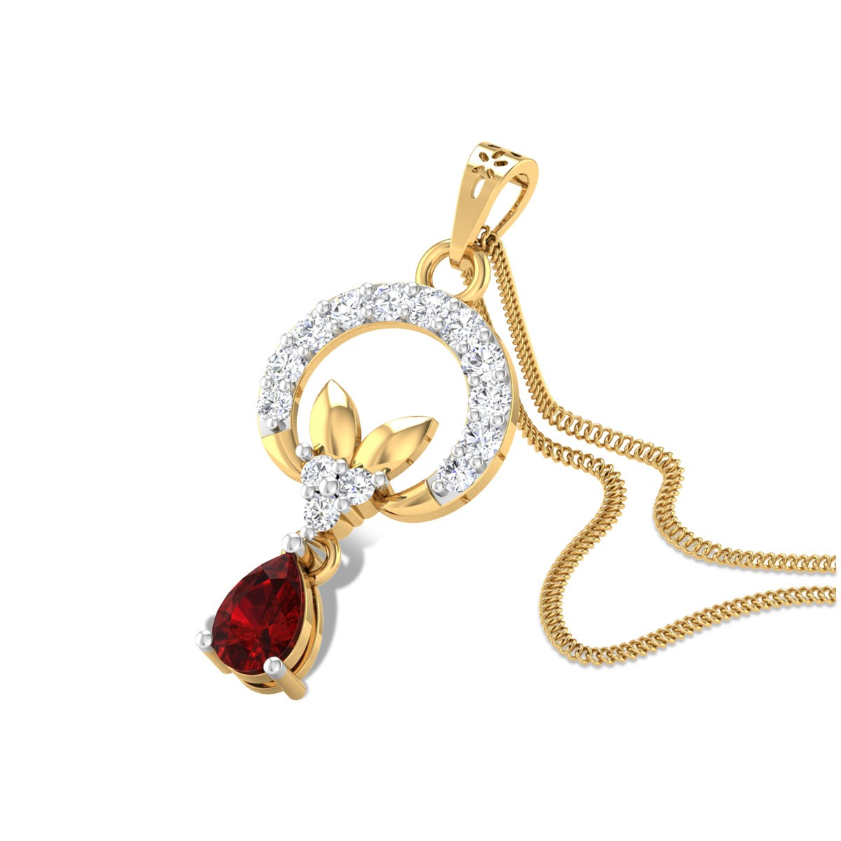 Alistaire Ruby Drop Pendant