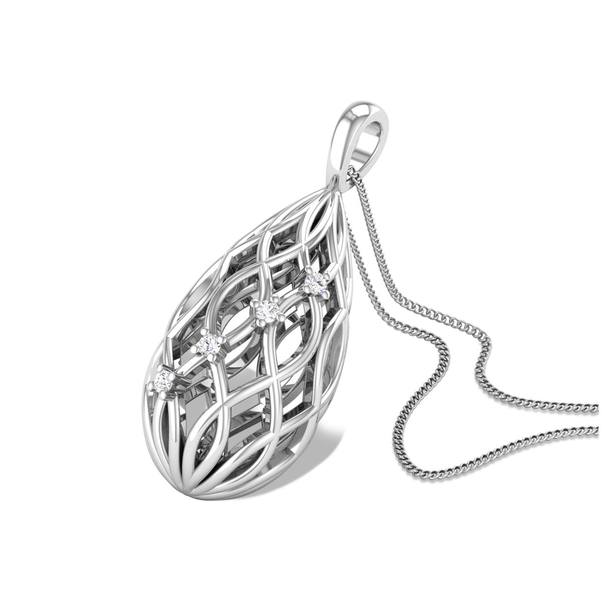 Babatunde Lattice Diamond Pendant