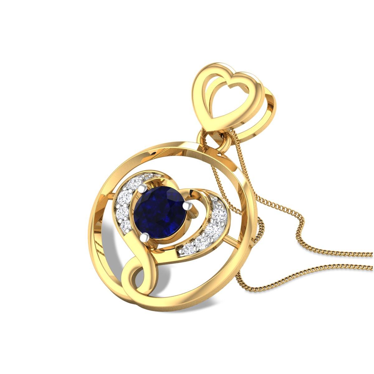 Babatte Sapphire Diamond Pendant