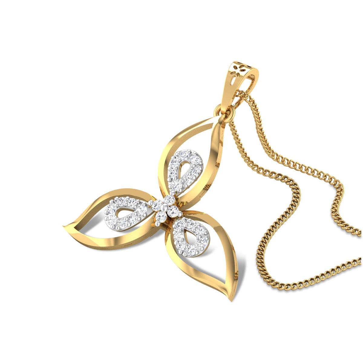 Balduino Floral Diamond Pendant