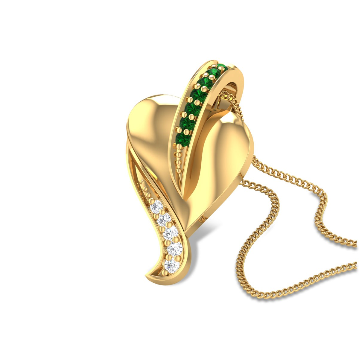 Aabida Emerald Pendant