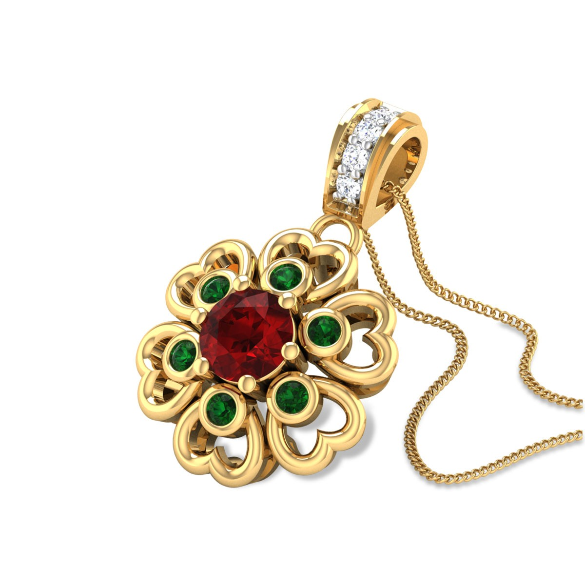 Andaleeb Floral Pendant