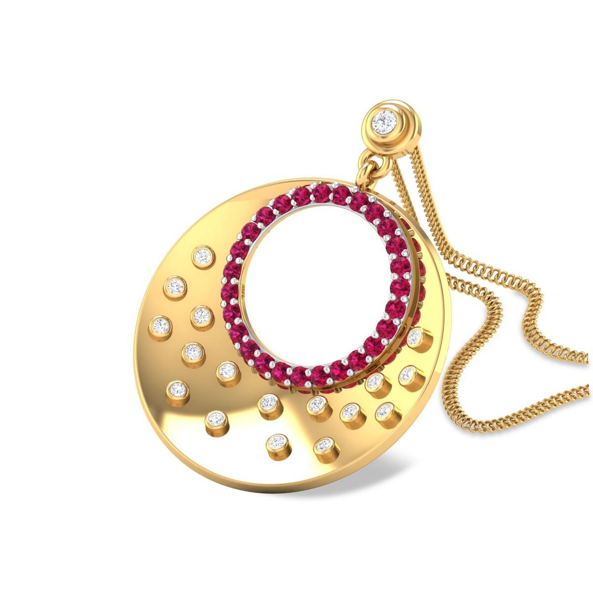 Atiyya Ruby and Diamond Pendant
