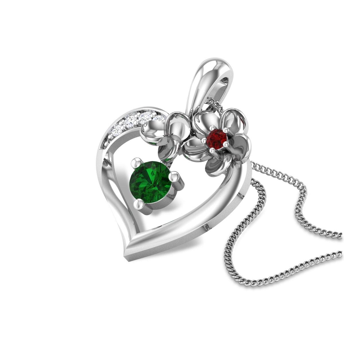 Atoofa Floral Heart Pendant