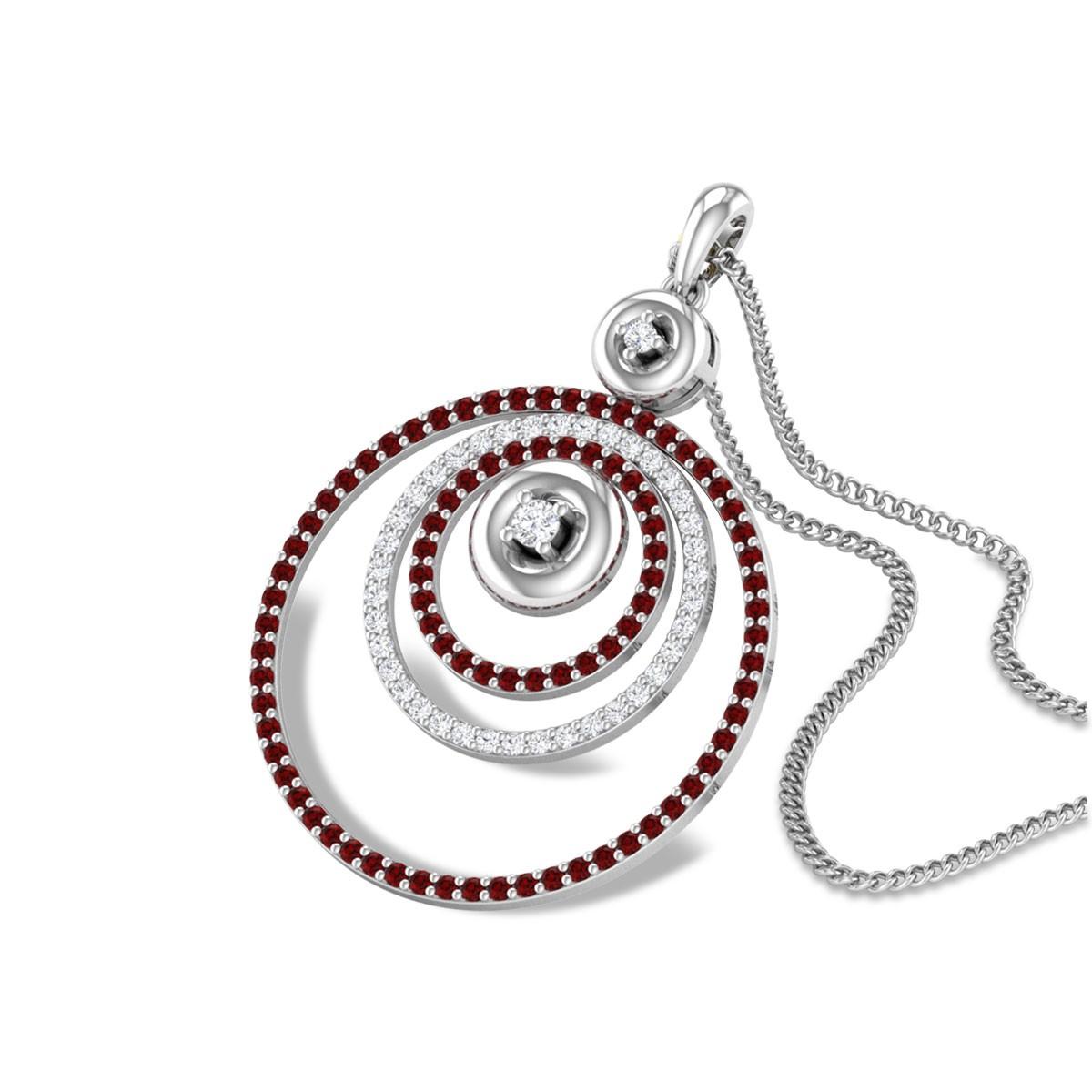 Tessitura Circular Diamond Pendant