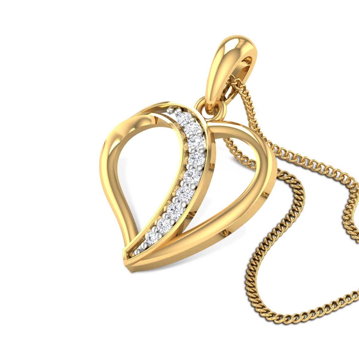 Aadita Diamond Heart Pendant