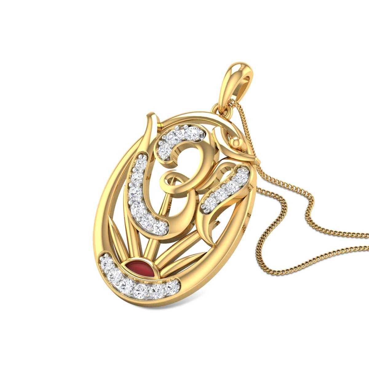 Om Adhavan Diamond Pendant