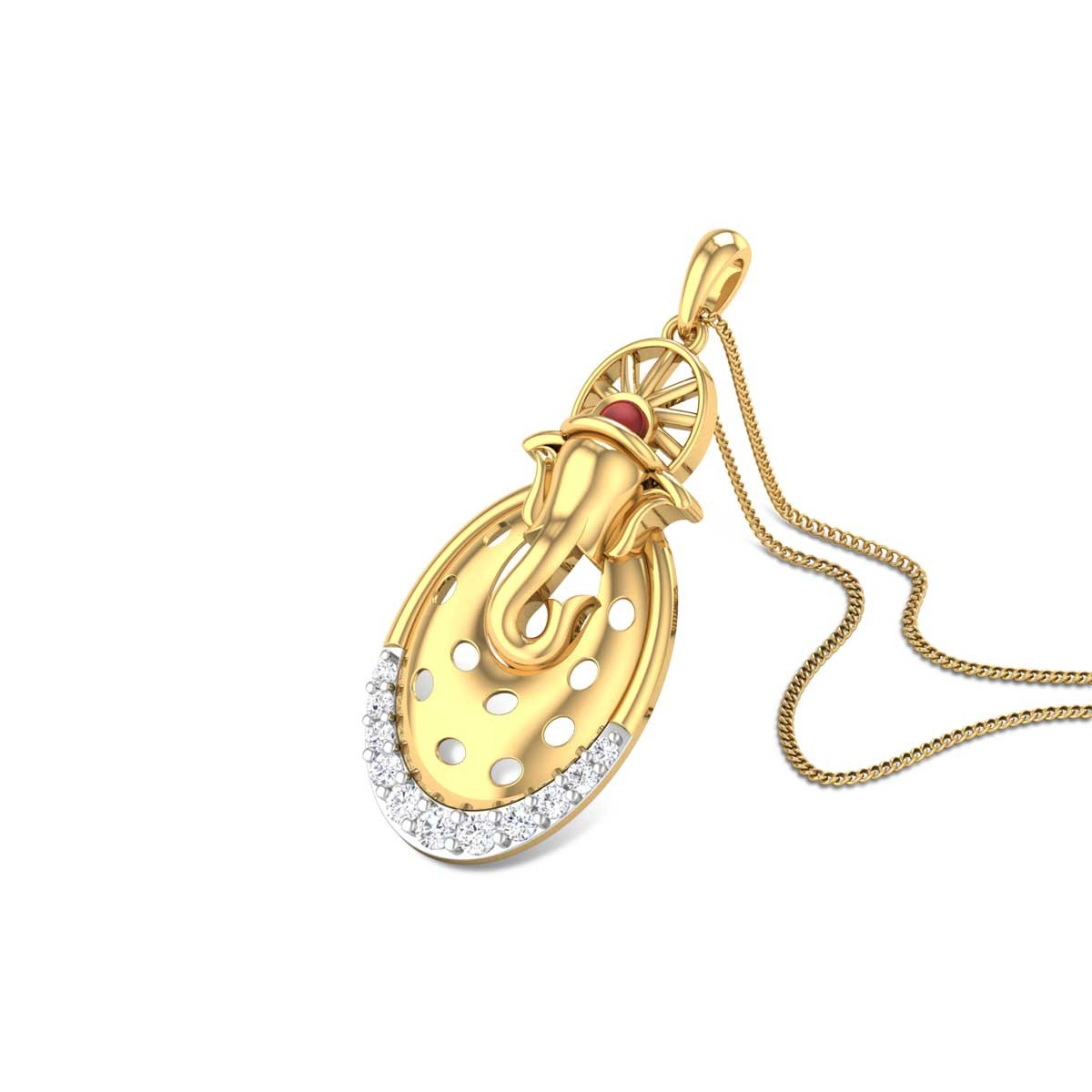 Gajrup Diamond Pendant