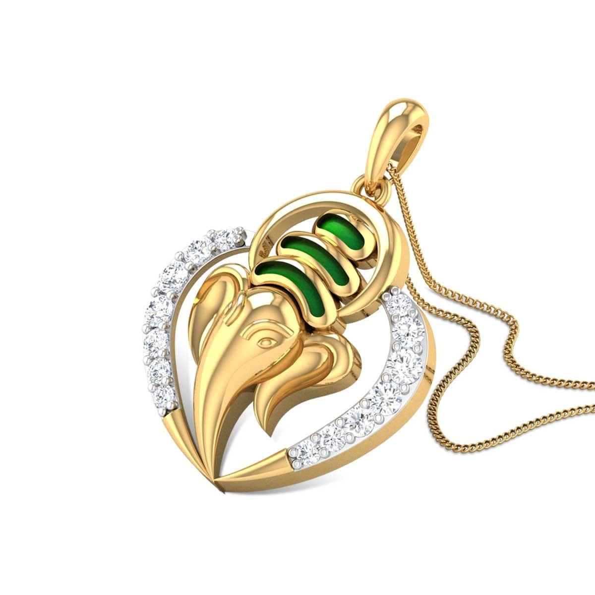 Ganpati Bappa Diamond Pendant
