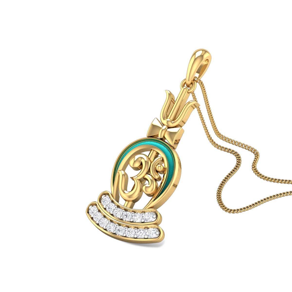 Om Mrigasya Diamond Pendant