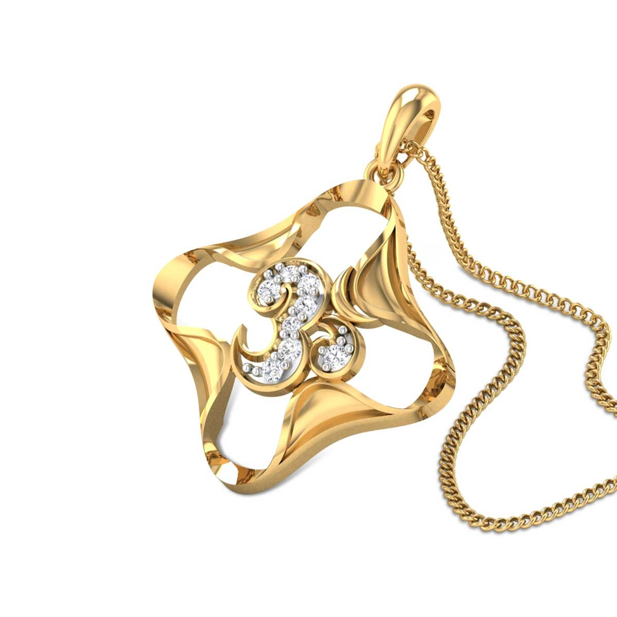 Ananta Om Diamond Pendant