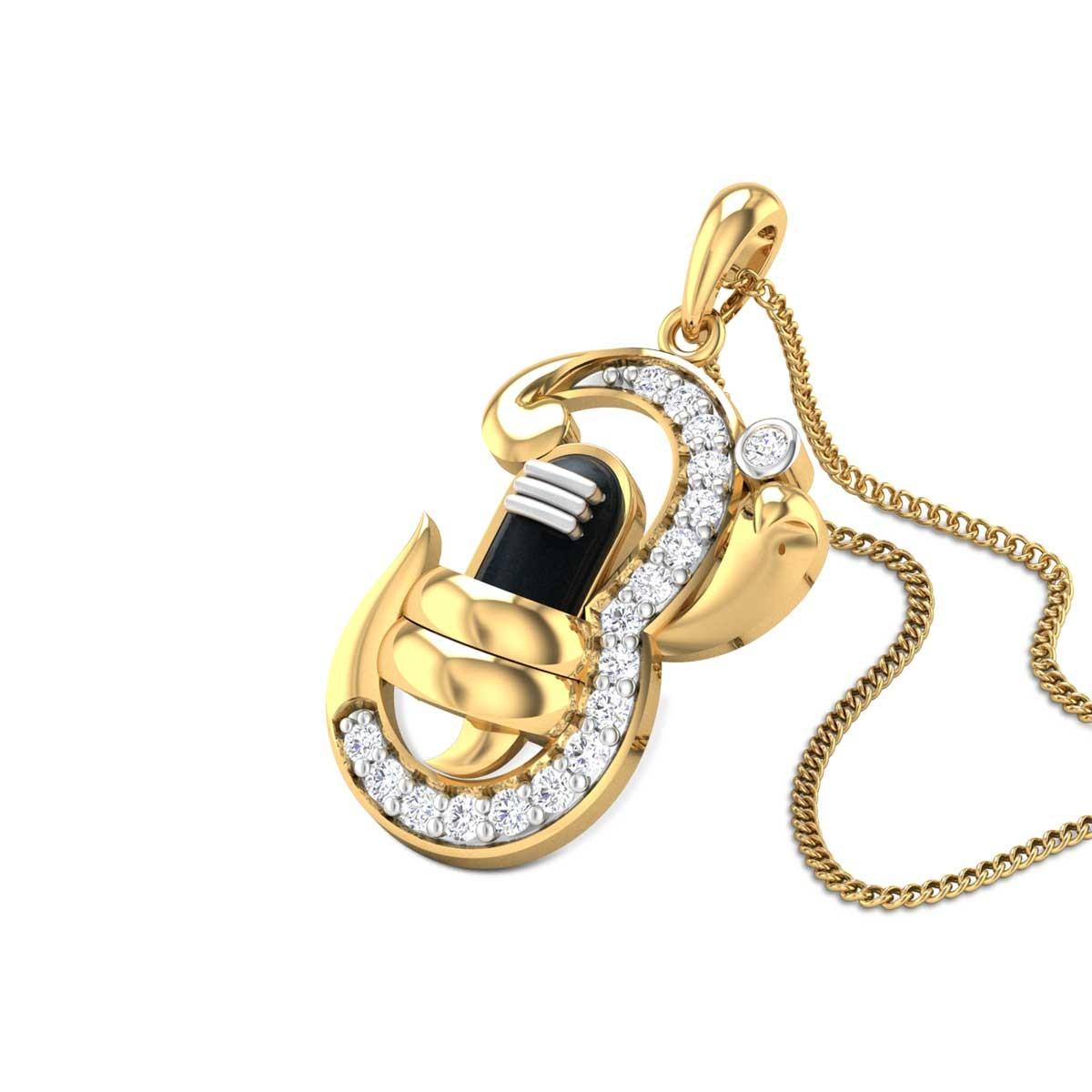 Om Kashinath Diamond Pendant