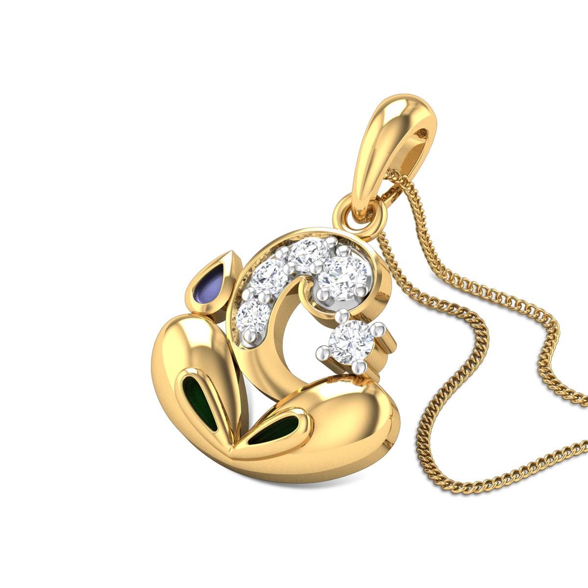 Mazurka Diamond Pendant