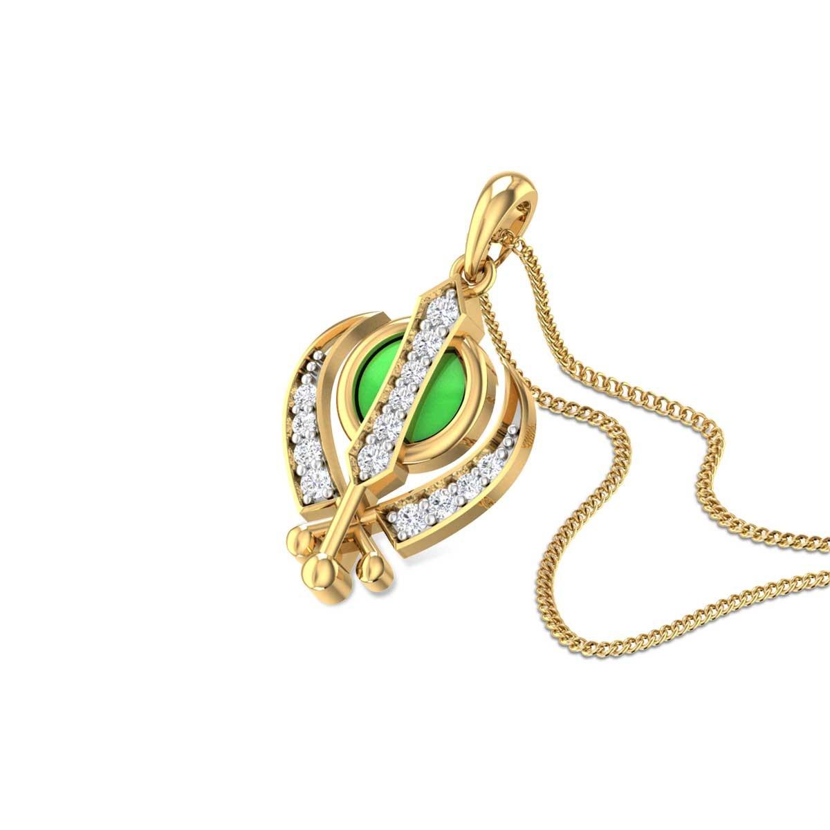 Deg Tegh Fateh Khanda Diamond Pendant