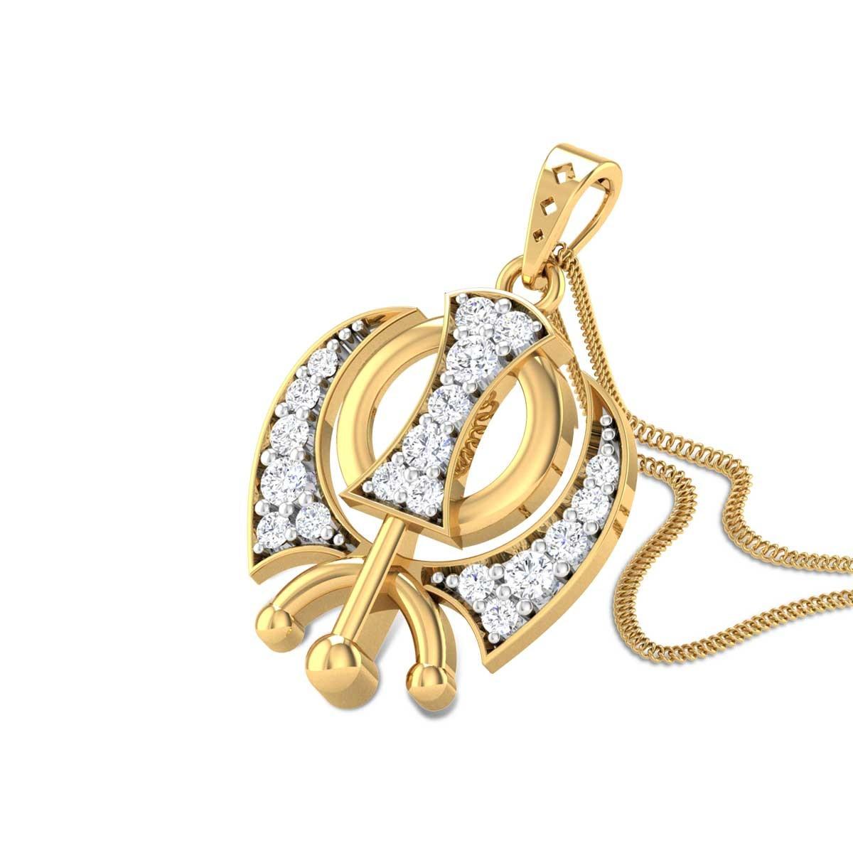 Divine Khanda Diamond Pendant