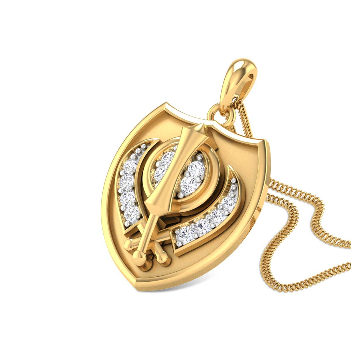 Godly Khanda Diamond Pendant
