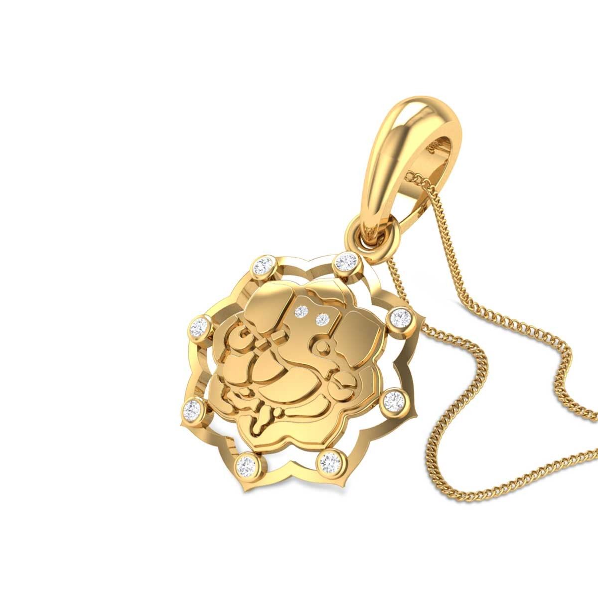 Vighneshwara Diamond Pendant