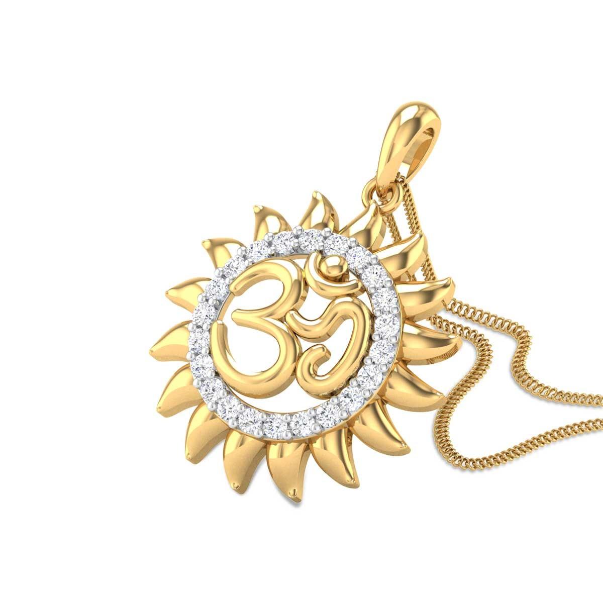 Anantachidrupamayam Diamond Om Pendant