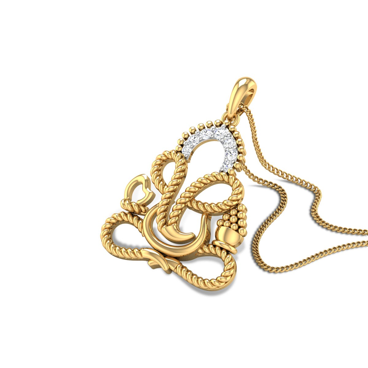 Braided Giroshayi Diamond Pendant