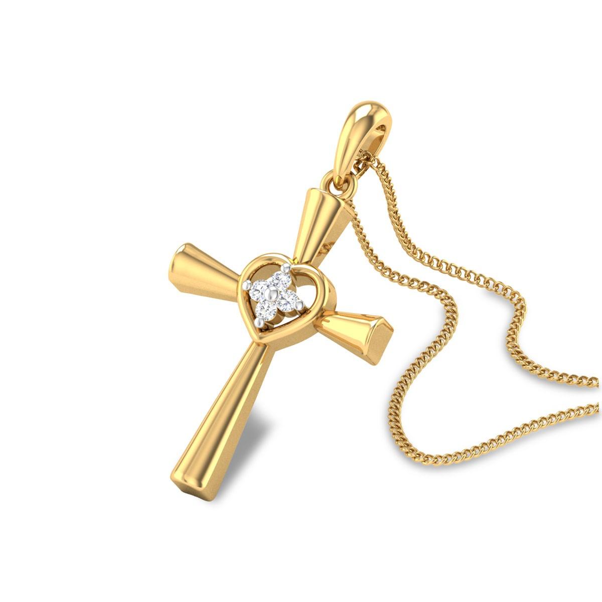 Christian Cross Diamond Pendant