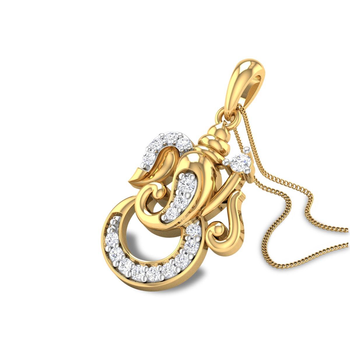 Veeraganapati Diamond Pendant