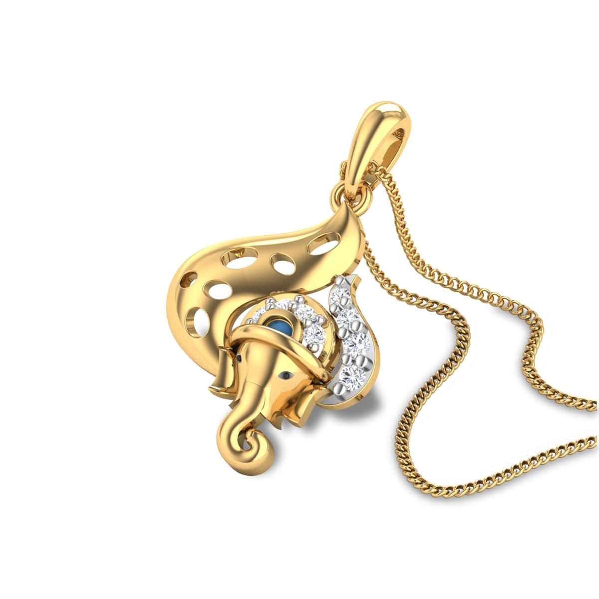 Vakratunda Diamond Pendant