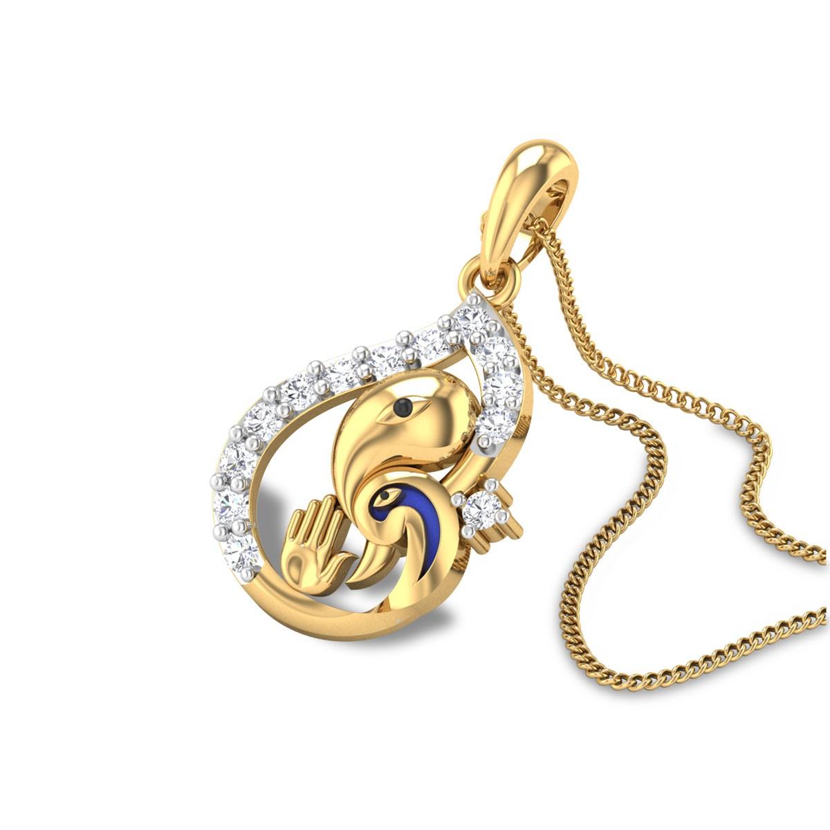 Mahaganapati Diamond Pendant