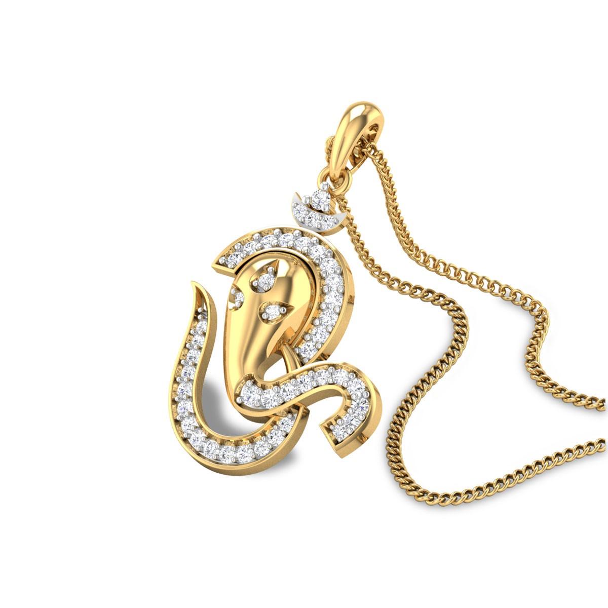 Lambodara Diamond Pendant