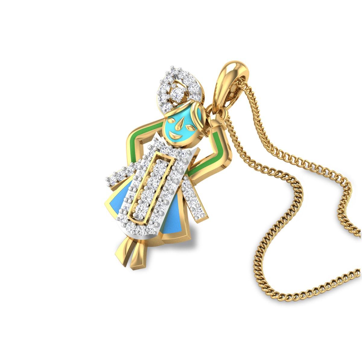 Diamond Sreenathji Gold Pendant