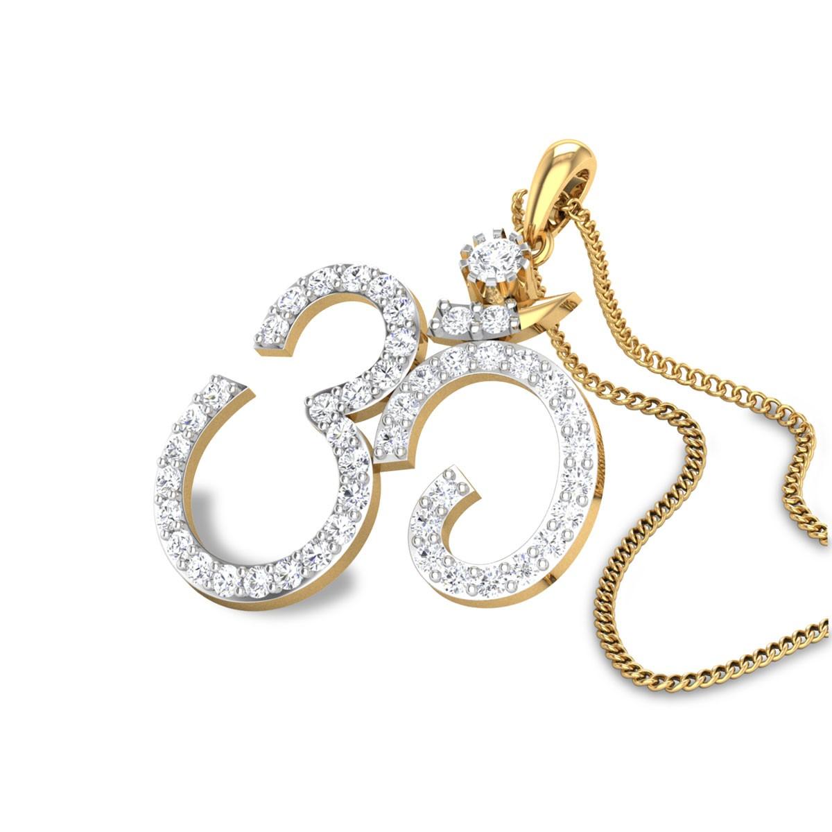Divine Aum Diamond Pendant