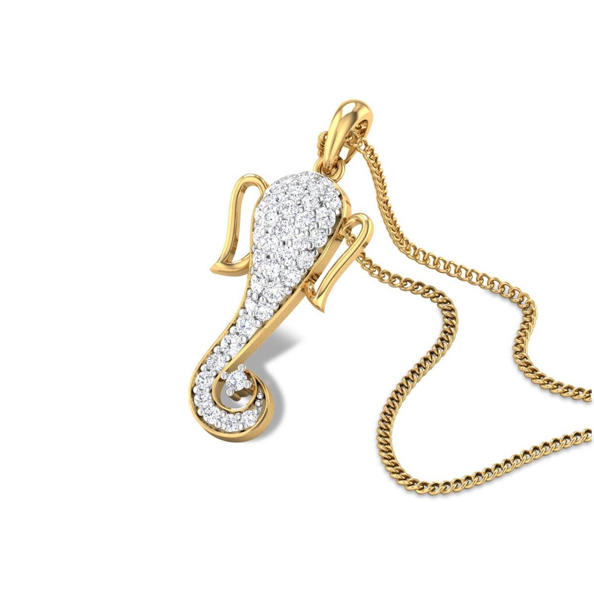 Gajavakra Diamond Pendant
