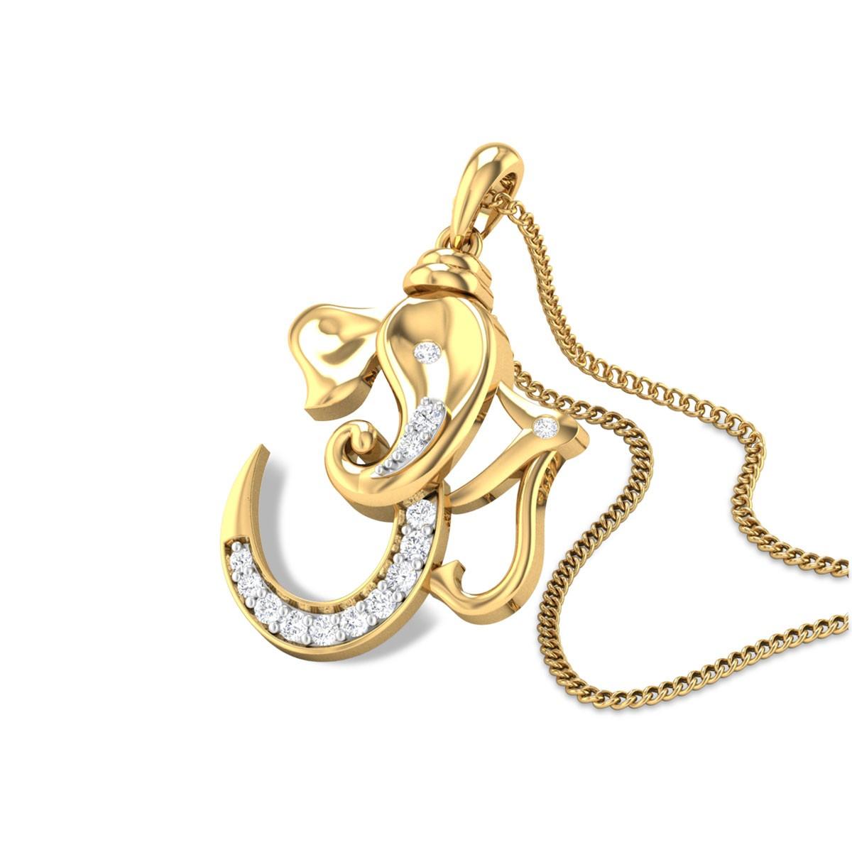 Gajanana Diamond Pendant
