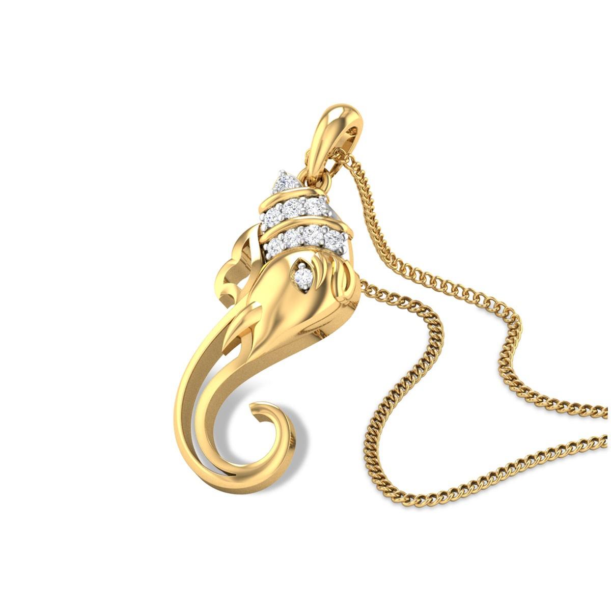 Gajakarna Diamond Pendant