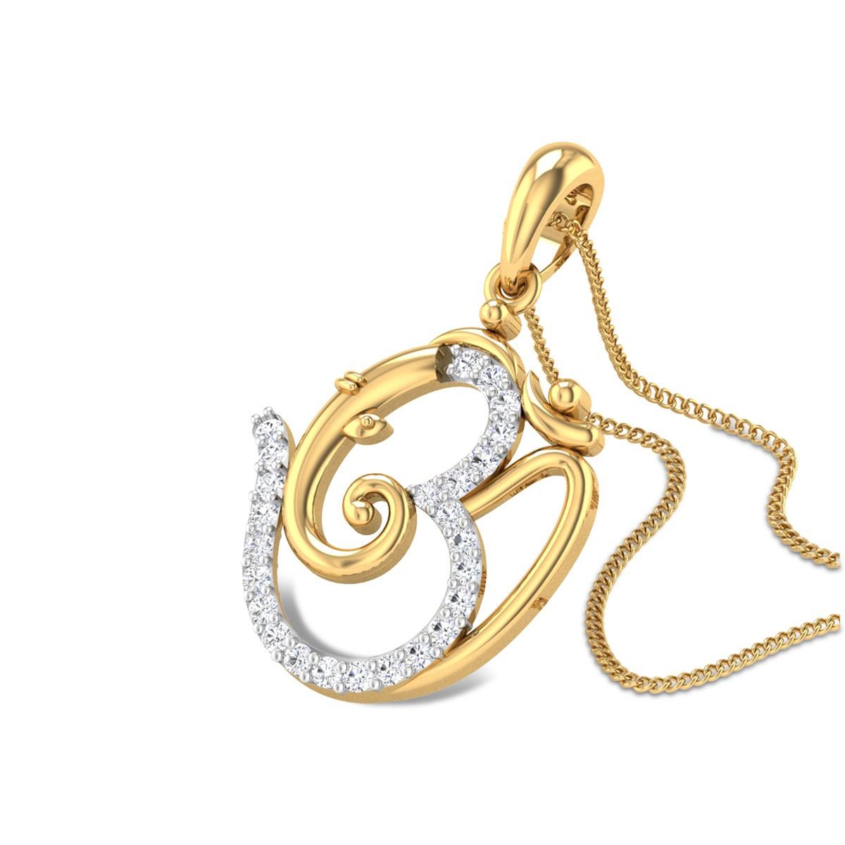 Bhuvanpati Om Diamond Pendant