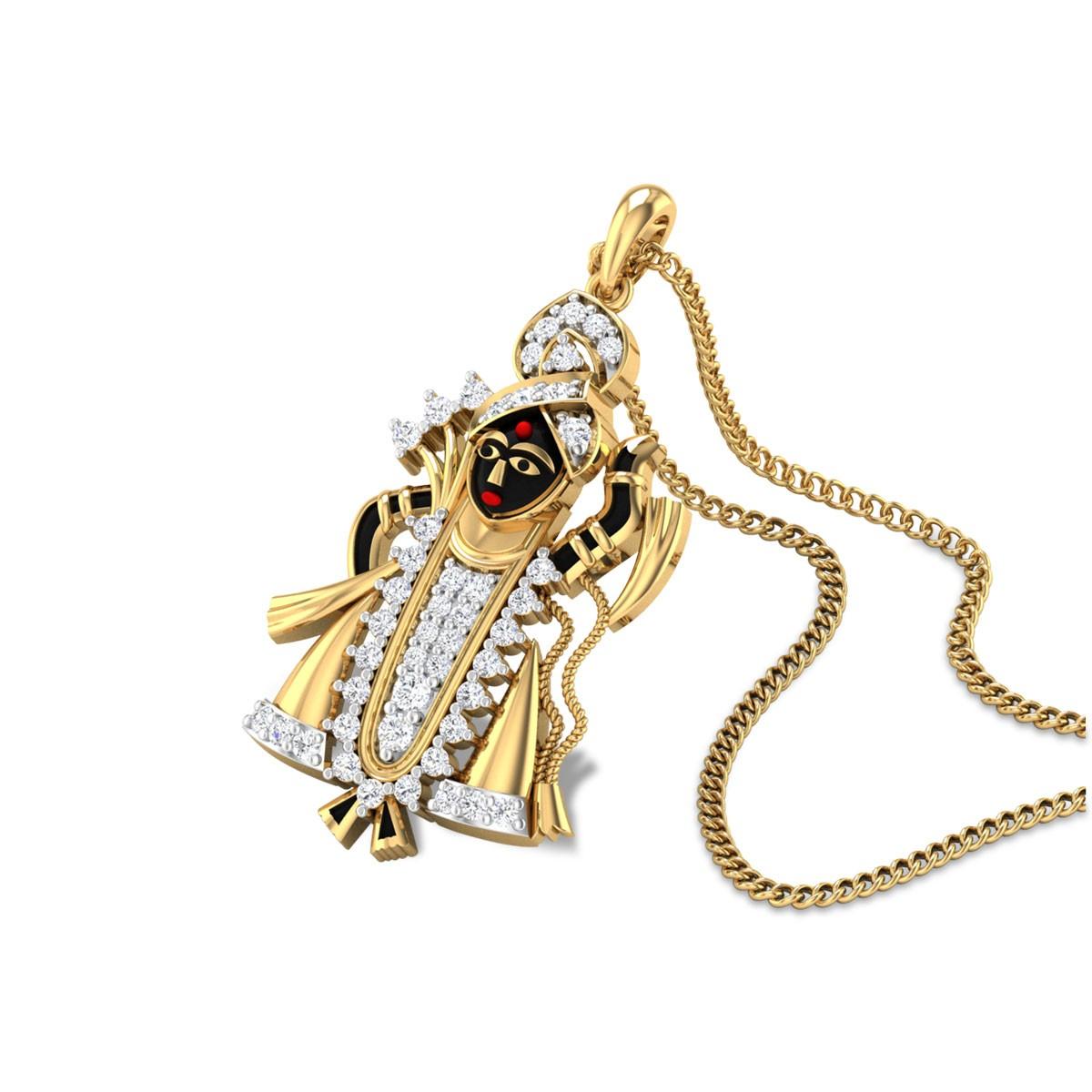 Srinathji Diamond Pendant