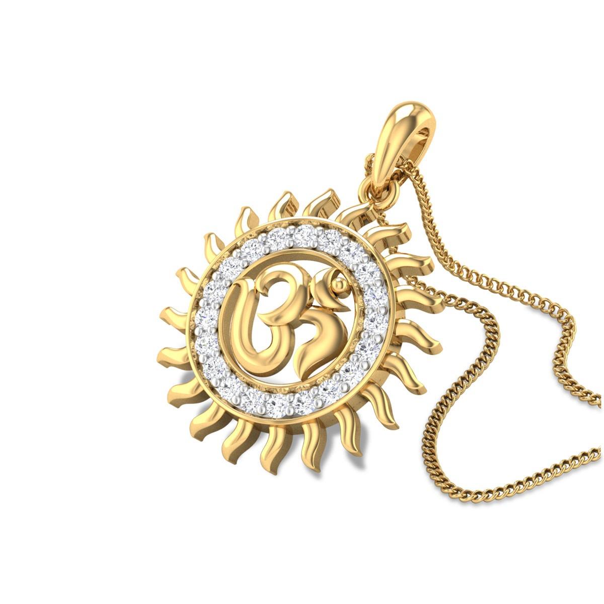 Shining Om Diamond Pendant