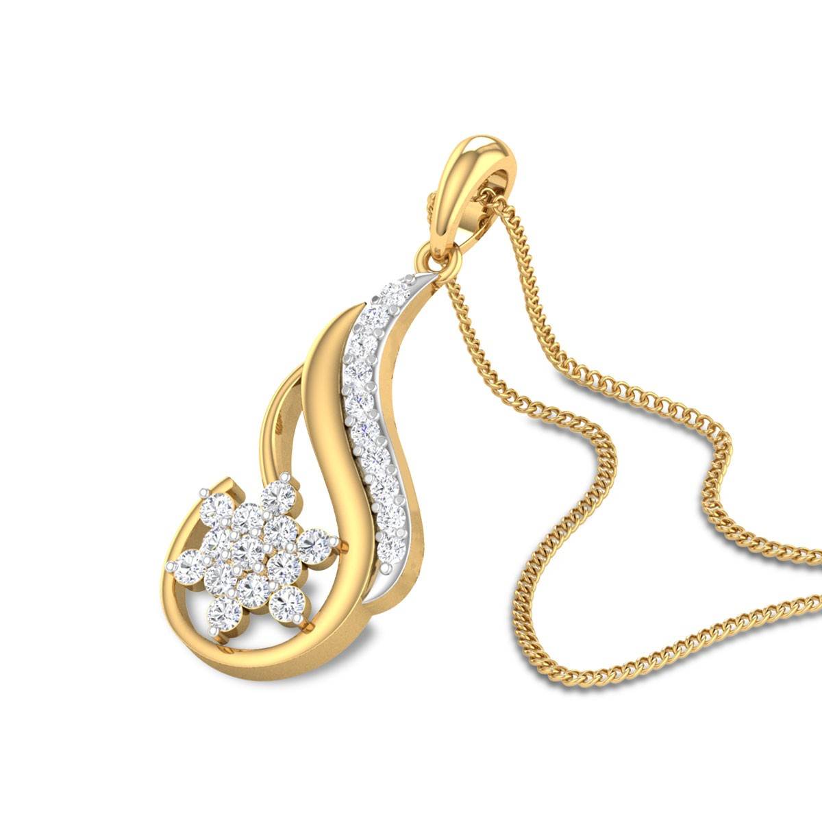 Marlow Floral Diamond Pendant