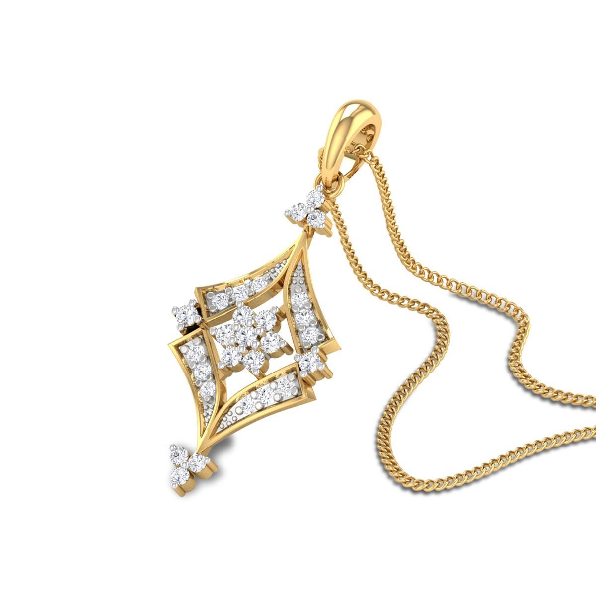 Parker Floral Diamond Pendant