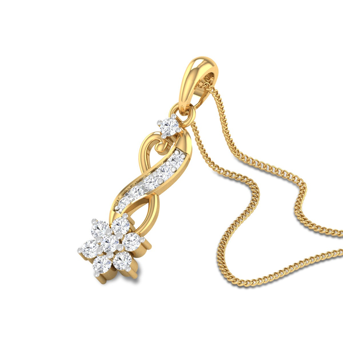 Penn Floral Diamond Pendant
