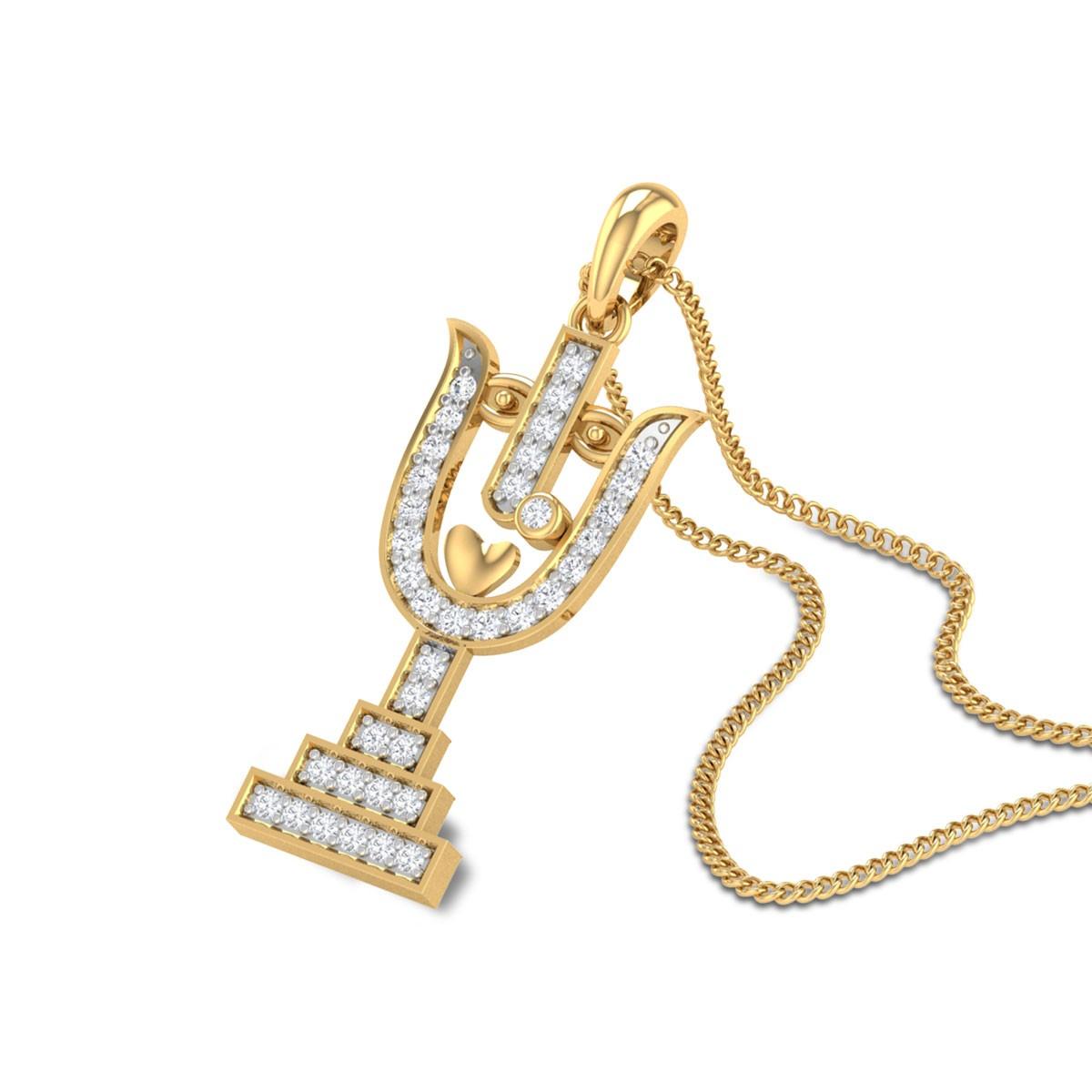 Thrisool Durga Diamond Pendant