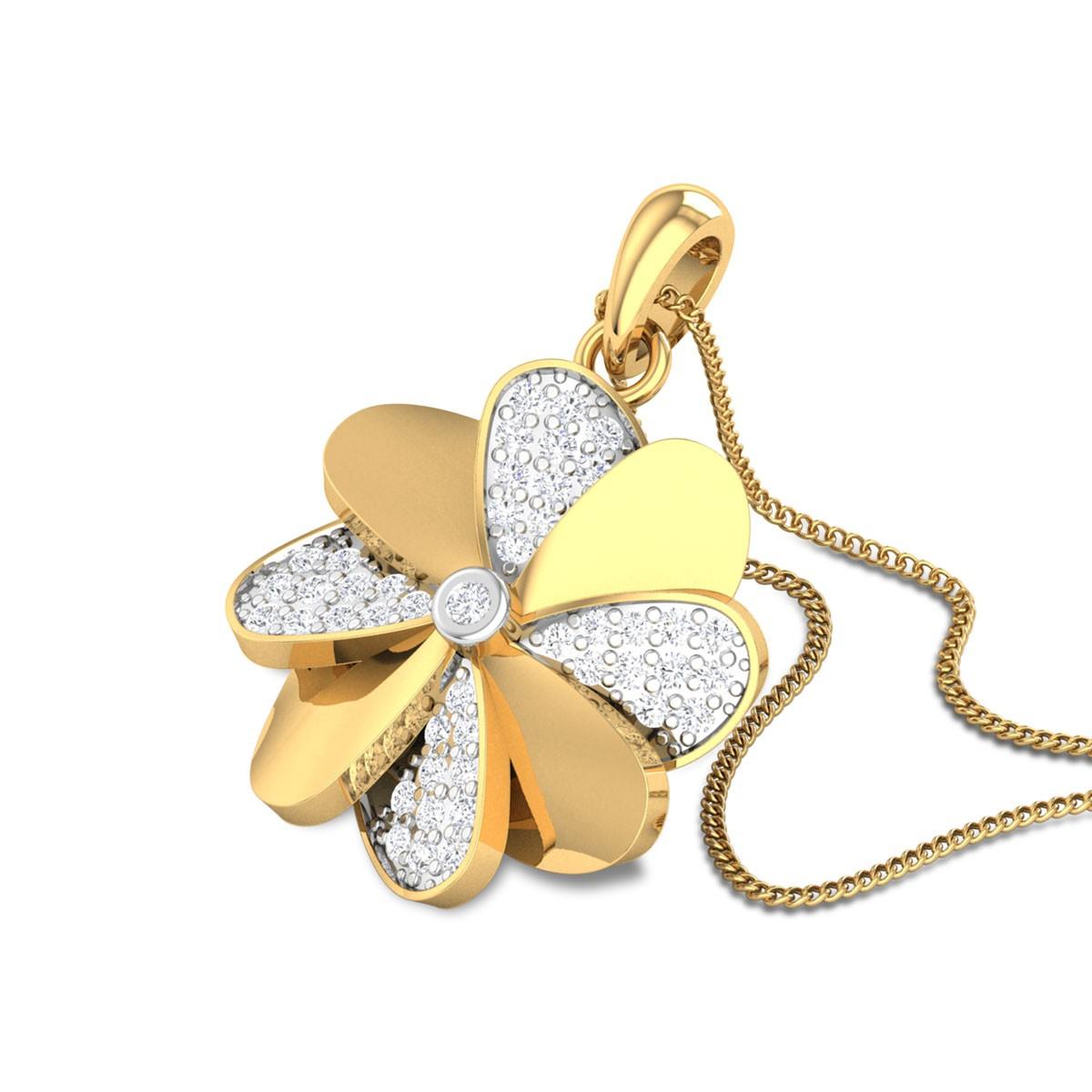 Rio Floral Diamond Pendant