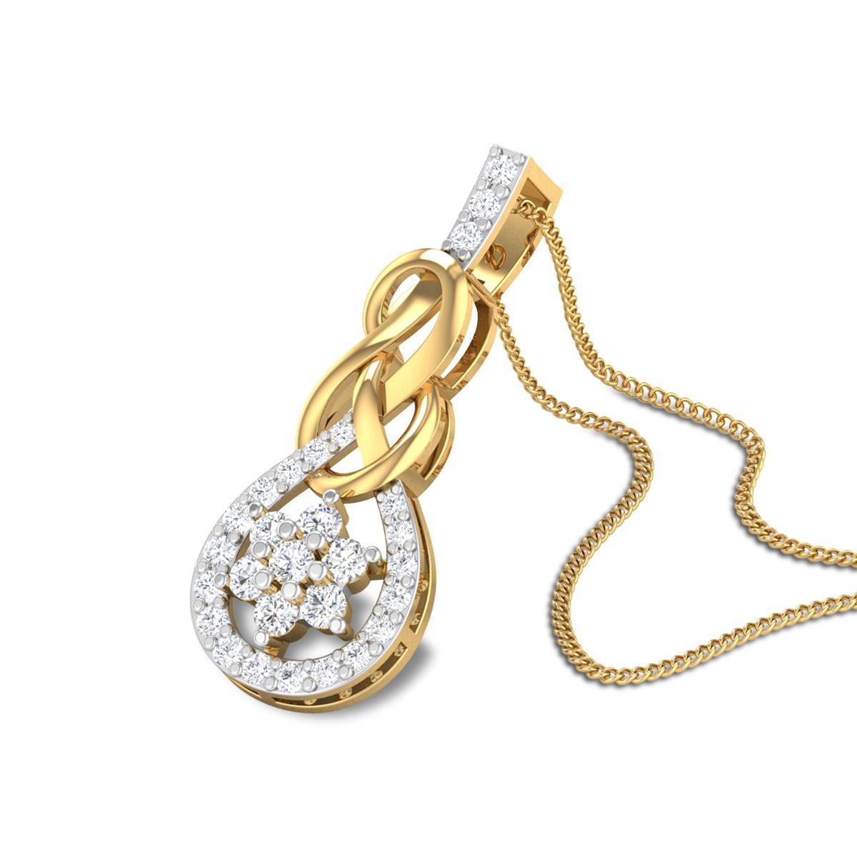 Vesper Floral Diamond Pendant
