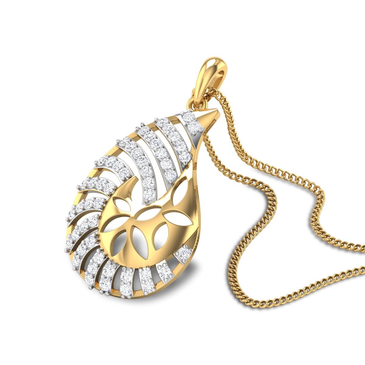 Breccan Paisley Diamond Pendant