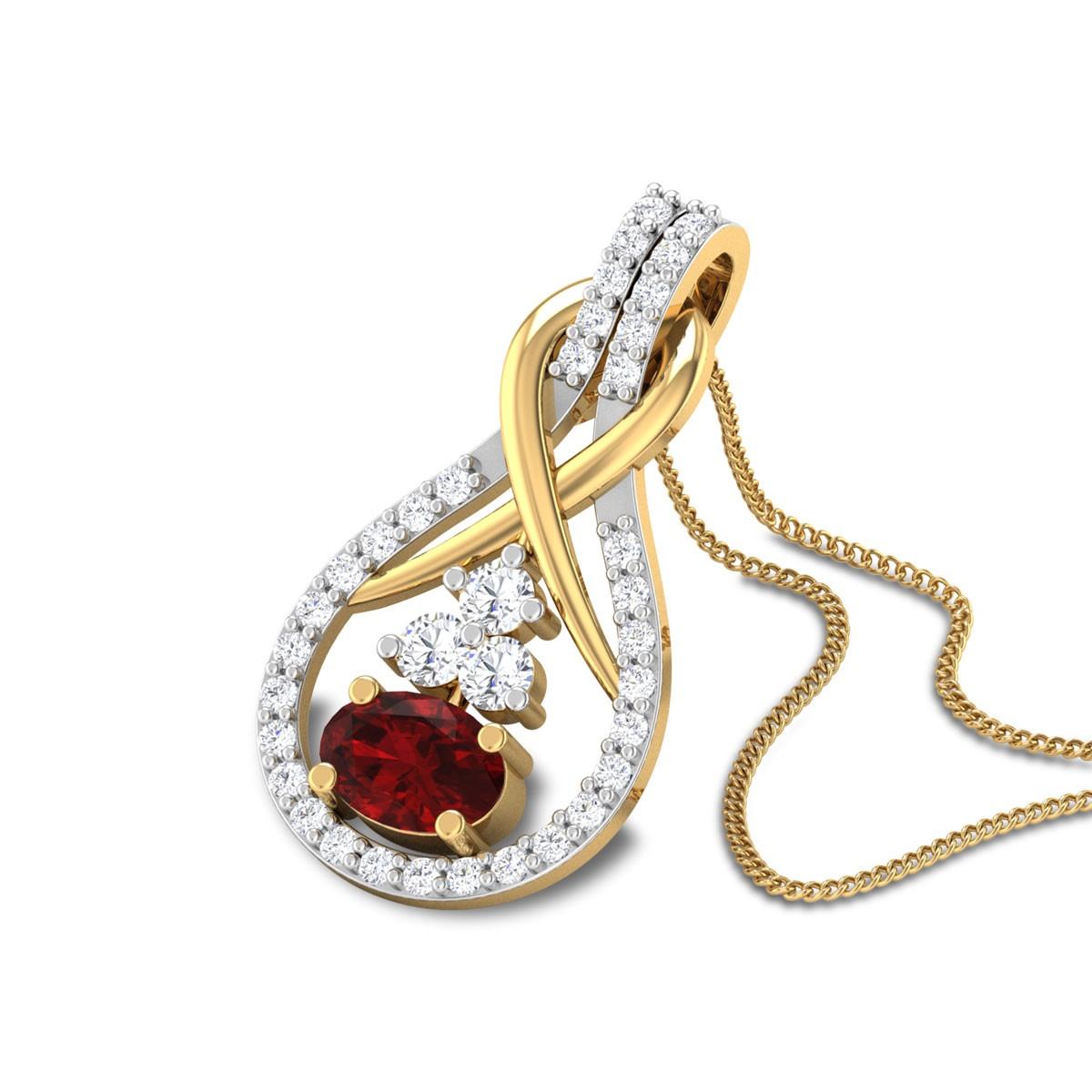 Vita Diamond and Ruby Pendant