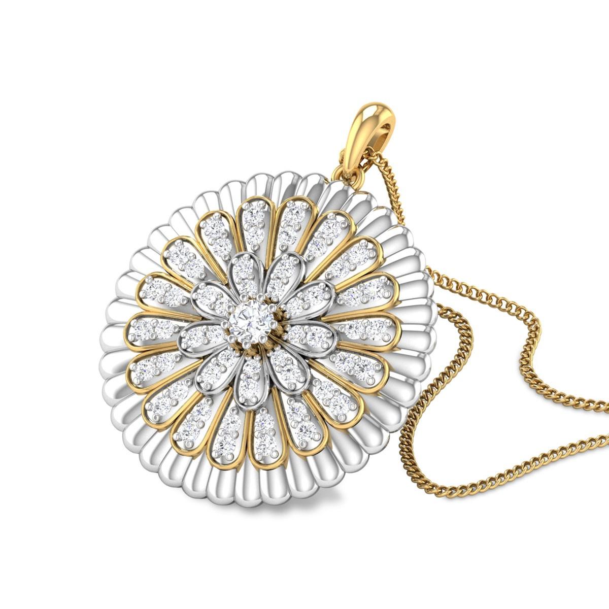 Houston Floral Diamond Pendant