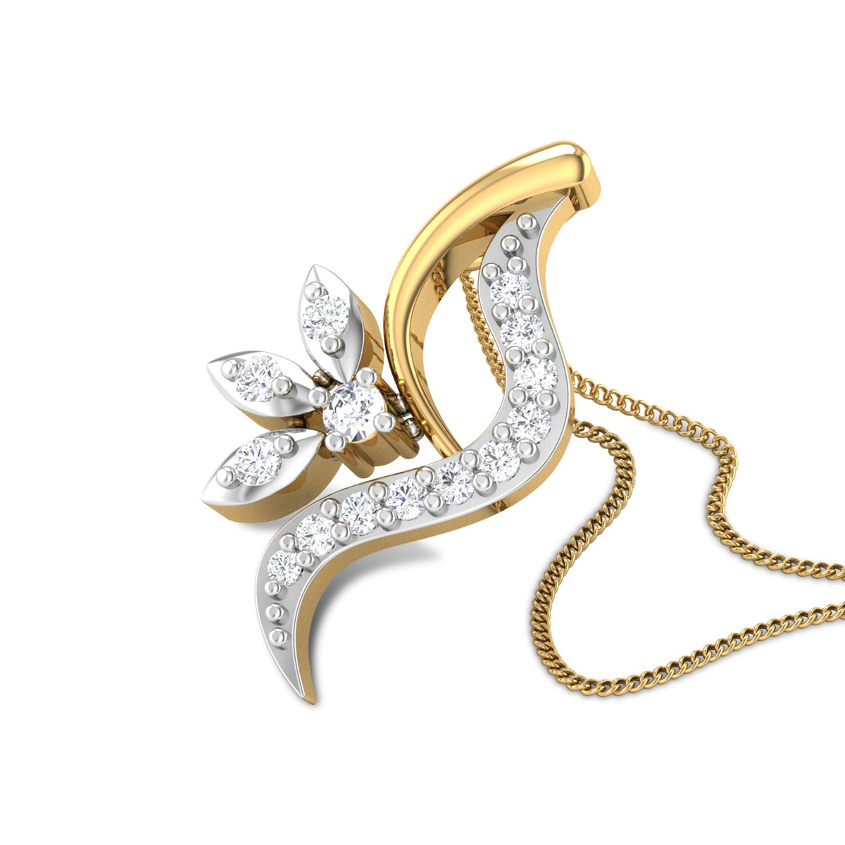 Franco Floral Diamond Pendant