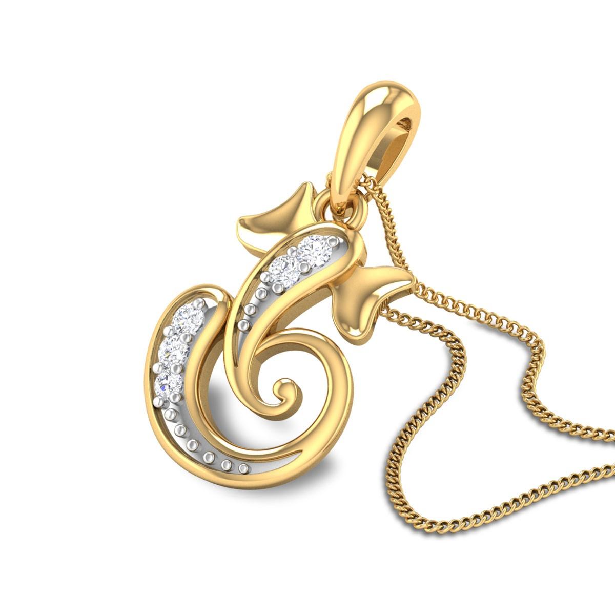 Sean Ganesha Diamond Pendant
