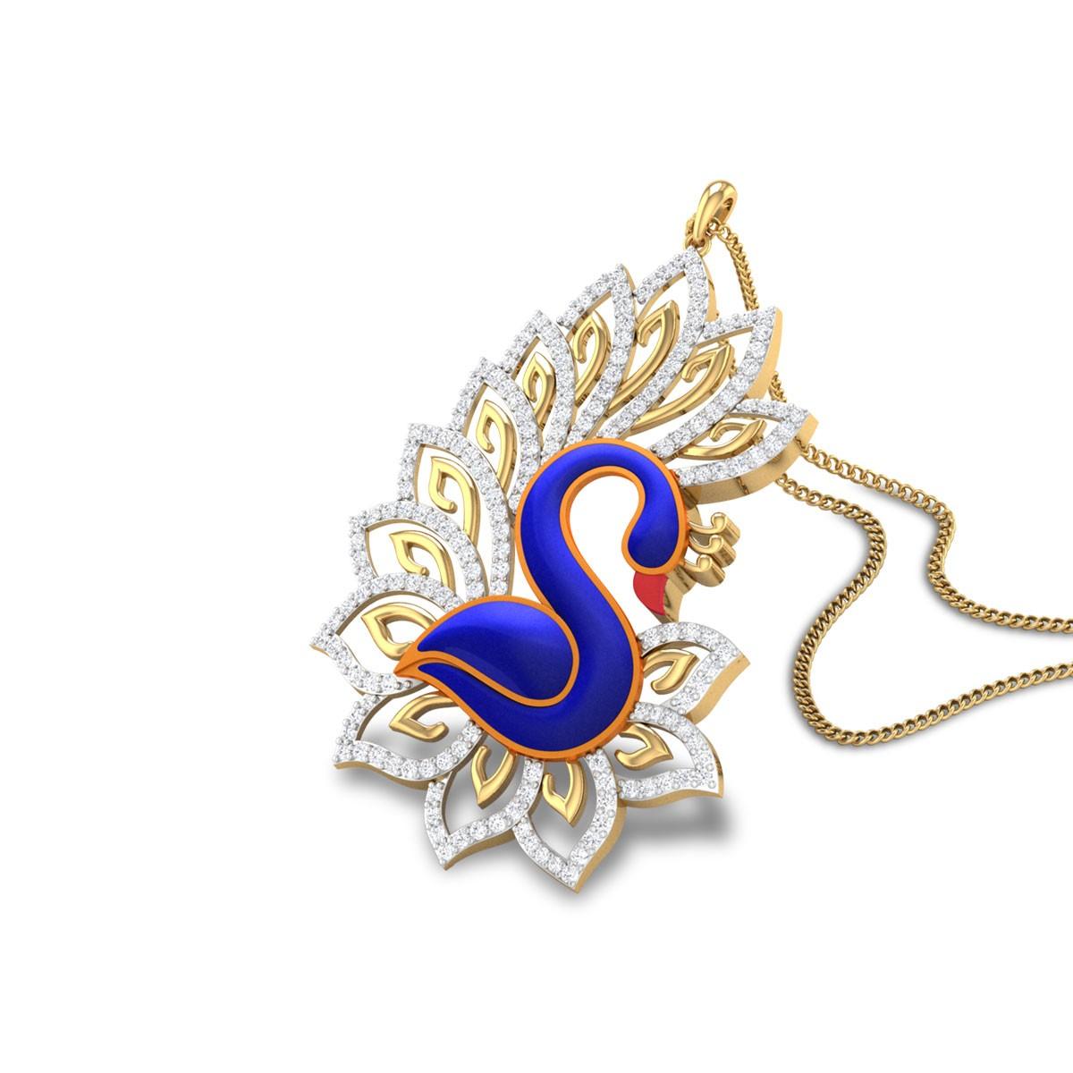 Cian Diamond Peacock Pendant