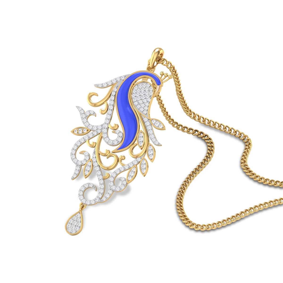 Brosnan Diamond Peacock Pendant