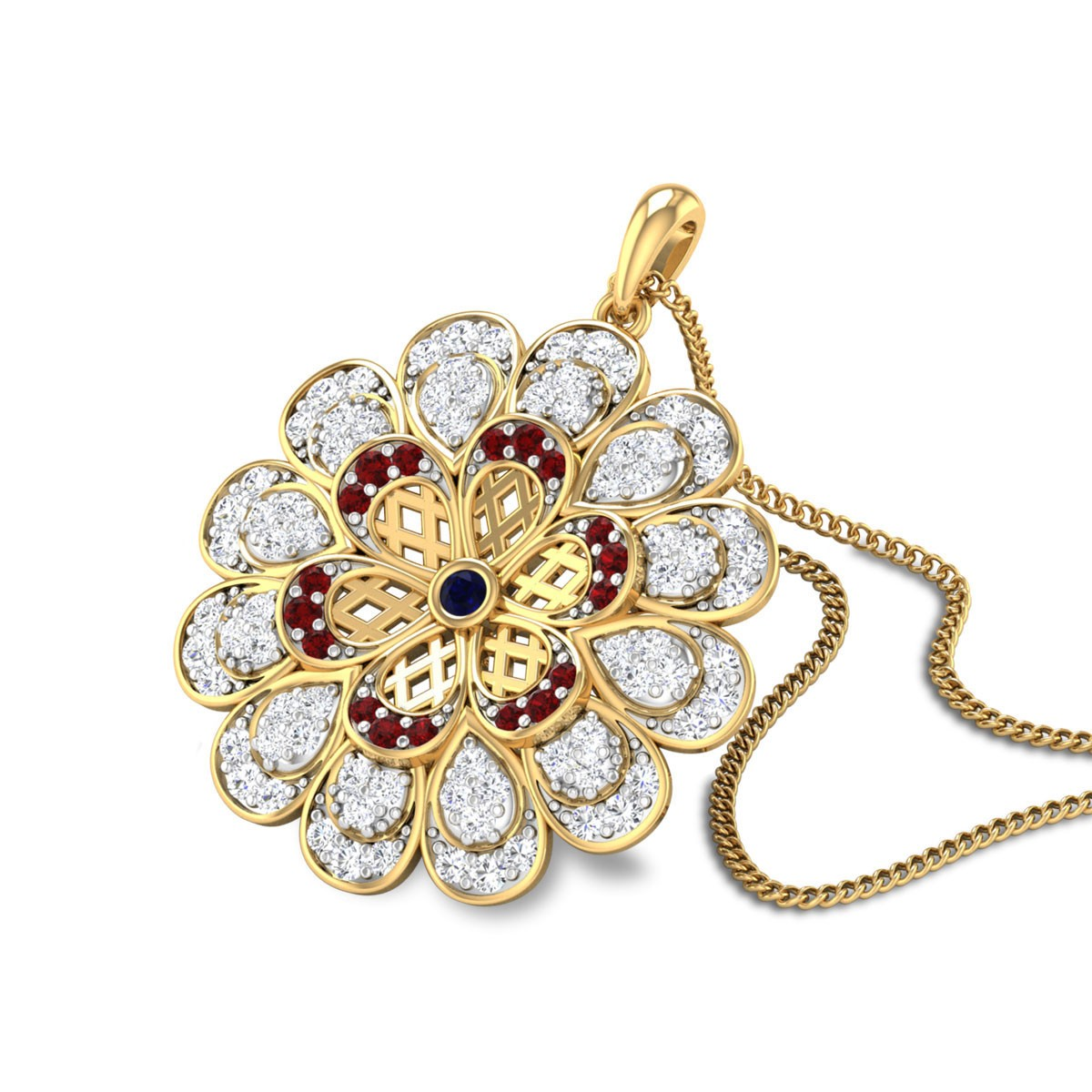 Romilda Diamond and Ruby Pendant